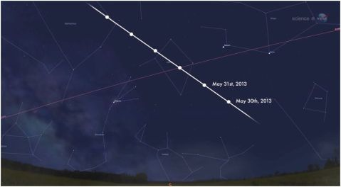 asteroid may 31 2013 1998 QE2 meteor meteorite shooting star nasa how big approach hit earth where doom STARMAP