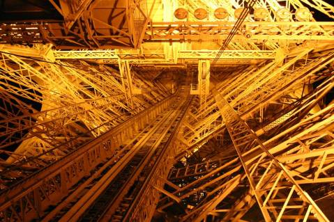 eiffel tower metal frame close up 4