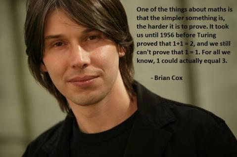 brian cox quoting math