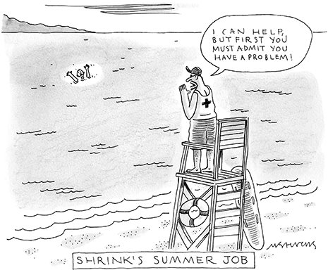 shrink's  summer job