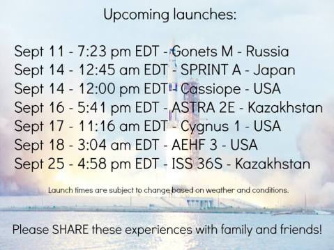 upcoming launches