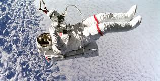 astronaut floats space